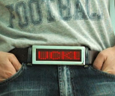 belt buckle message