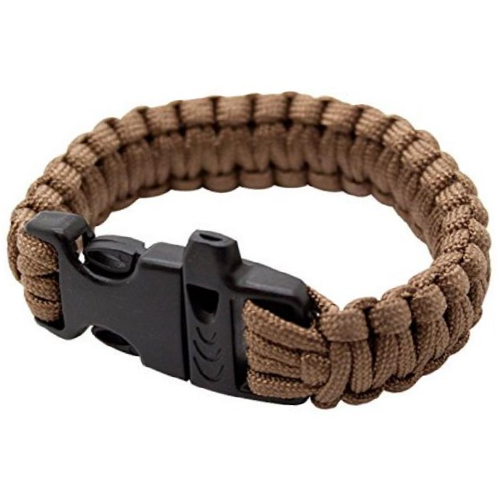 Survival Bracelet Paracord Rope Rescue Emergency 330lb Brown