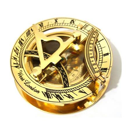 Brass Sundial Compass Pocket West London
