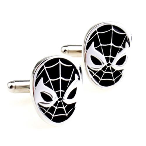 Cufflinks Spiderman Super Hero Mask Black