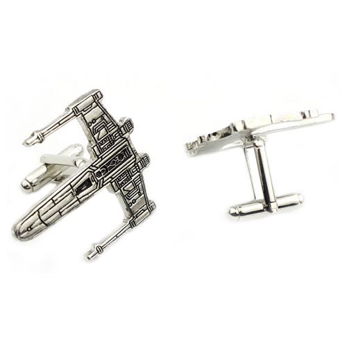 Cufflinks Star War X-Wing Spaceship Stainless