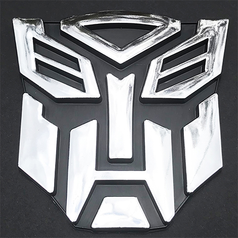 Transformer 3D Car Decal Emblem Chrome Autobot Symbol 9cm