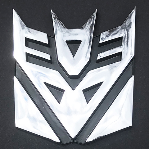 Transformer 3D Car Decal Emblem Chrome Decepticon 9cm