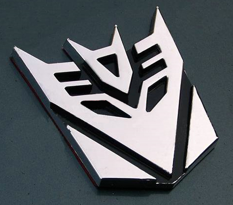 Transformer 3D Car Decal Emblem Chrome Decepticon 7cm