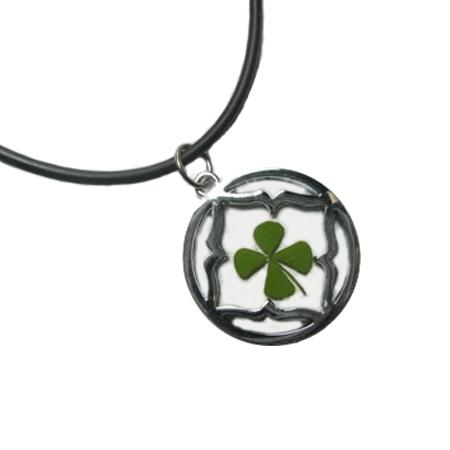 Four Leaf Clover Necklace Real Specimen Lucky
