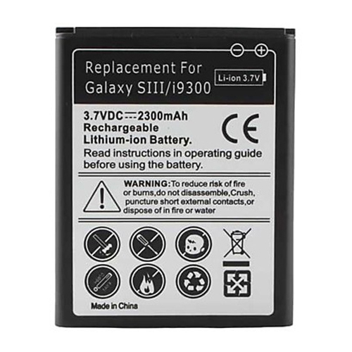 Samsung Galaxy S3 SIII Replacement Battery 2300mAh