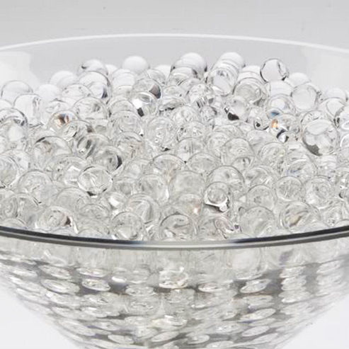 Gel Round Crystal Beads Soil Water Plants
