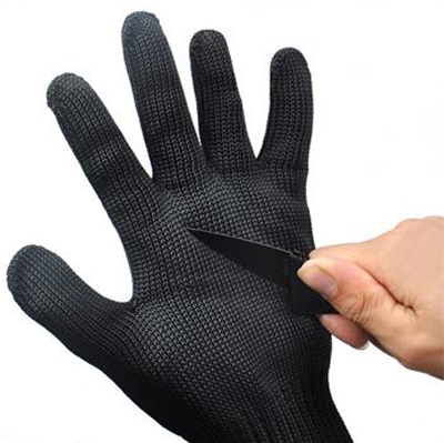Cutting Knife Wired Mesh Protection Gloves
