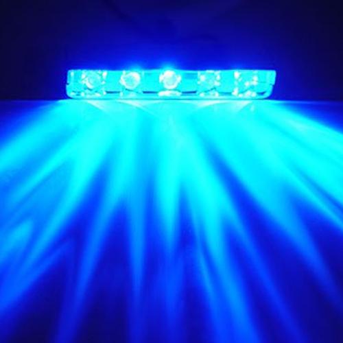 5 LED Light Bar Super Bright 12 Volt Blue