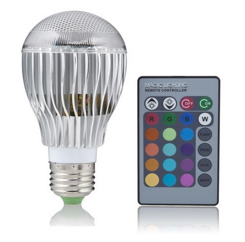 9W LED E27 Light Bulb 16 Color Remote Control RGB