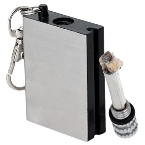 Permanent Match Striker Lighter Flat Keychain Reusable