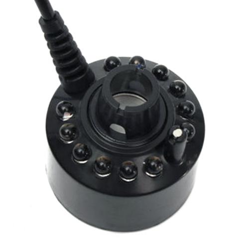 Mist Maker Black Pond Ultrasonic Fog Mister Machine Ionizer 12 LED