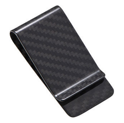 Money Clip Carbon Fiber Real Genuine Black