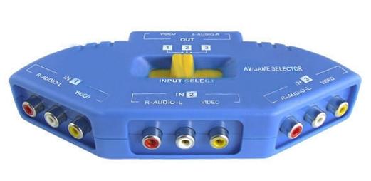 Splitter 3 Game Rca 3 Port Switch Splitter