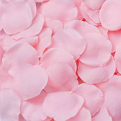 Silk Rose Flower Pedals Romantic Decor Pink 144pack