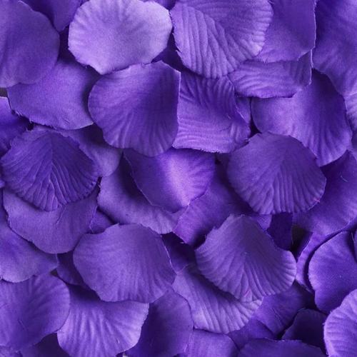 Silk Rose Flower Pedals Romantic Decor Purple 100pack