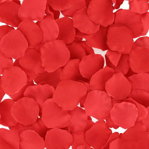 Silk Rose Flower Pedals Romantic Decor Red 100pack