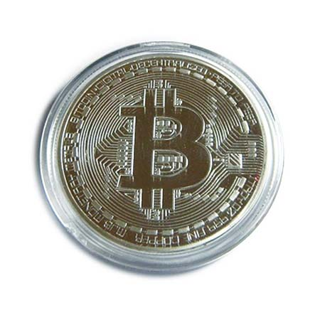 Silver Bitcoin Physical Cryptocurrency Coin