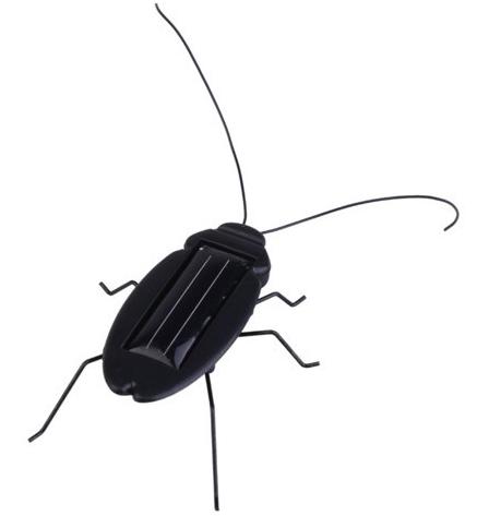 Solar Powered Cockroach Sunlight Energy Toy