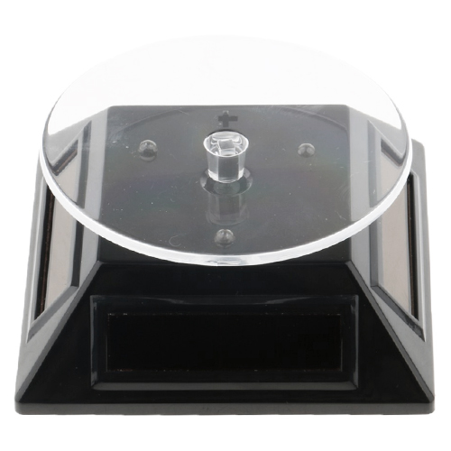 Solar Power Turntable Product Display Black