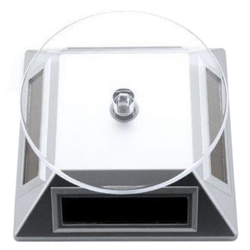 Solar Power Turntable Product Display Grey