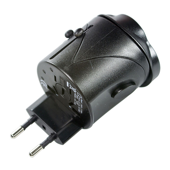 Travel Universal Power Adapter w/ Safety Circuit