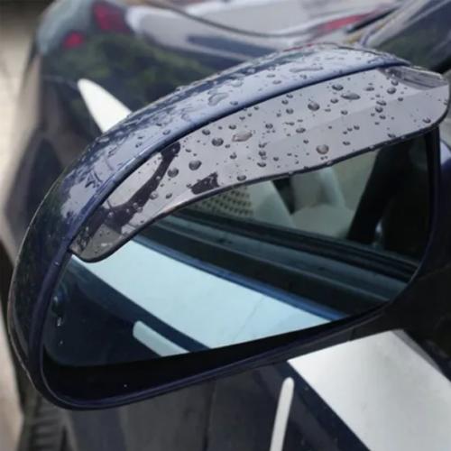 Side Mirror Rain Guard Wind Visor Flexible 2pack