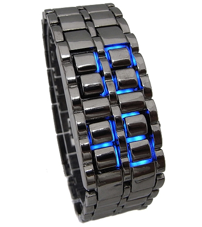 faceless led watch instructions