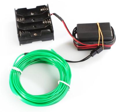 Flexible Wire Light Strip Rope EL Lighting Long 10m Green