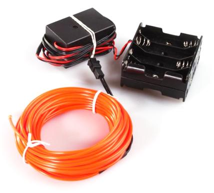 Flexible Wire Light Strip Rope EL Lighting Long 10m Red