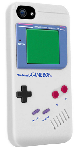 iPhone 5 5S 5C Case Silicon Gameboy Game White